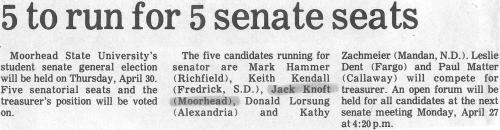 5 to run for 5 senate seats