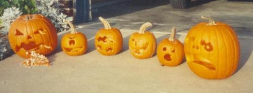 1993 Halloween jack-o-lanterns
