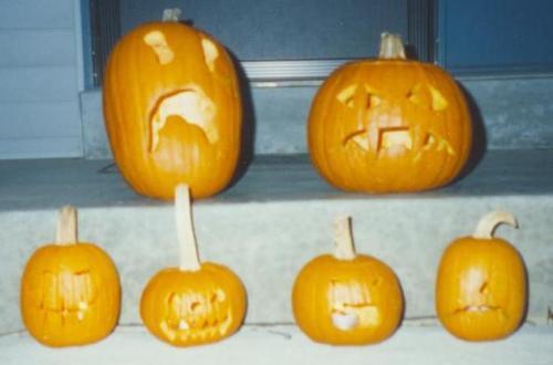 1994 Halloween jack-o-lanterns