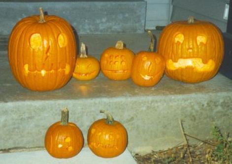 1996 Halloween jack-o-lanterns