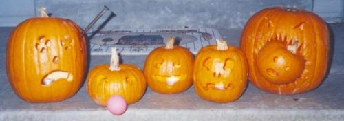 1997 Halloween jack-o-lanterns