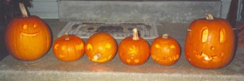 1998 Halloween jack-o-lanterns
