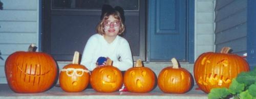 1999 Halloween jack-o-lanterns