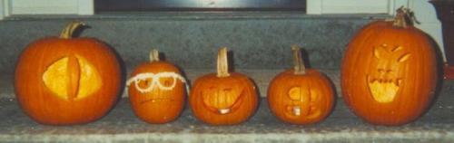 2002 Halloween jack-o-lanterns